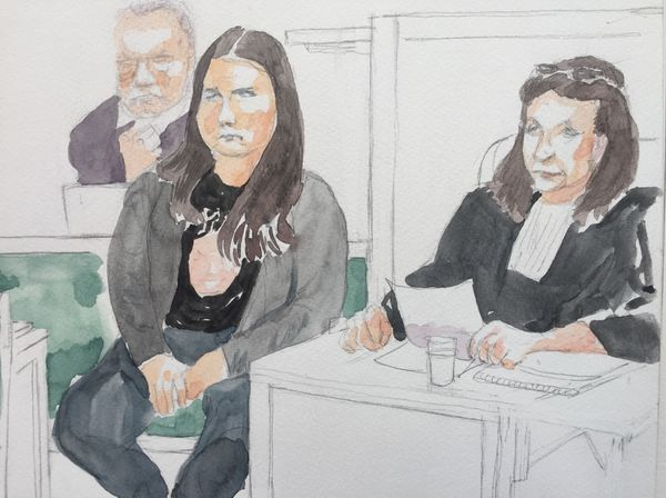 Les parties civiles et l'huissière à la cour d'assises des Ardennes, mars 2019