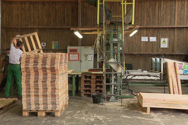 Les palettes fabriquées à Audruicq sont destinées aux entreprises du secteur