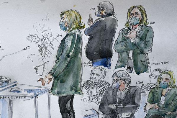 Le parquet de Nanterre a requis mercredi 5.000 euros d'amende contre Marine Le Pen et Gilbert Collard, ancien député du Gard tous deux jugés pour avoir diffusé des photos d'exactions de l'Etat islamique (EI) sur les réseaux sociaux en 2015.