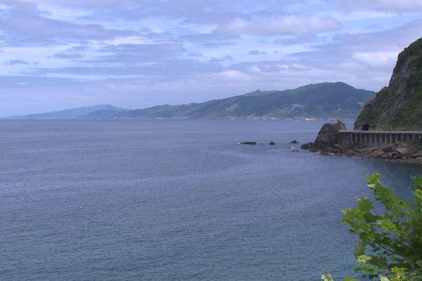 Vue depuis le commune de Getaria, sur la côte du Gipuzkoa