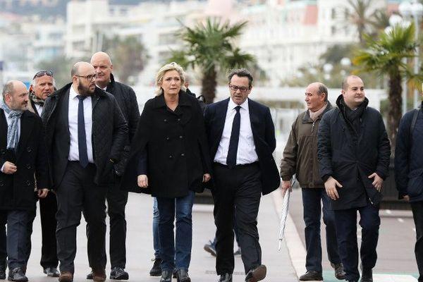 Marine Le Pen en campagne à Nice, dans le cadre de la campagne pour  l'élection présidentielle
