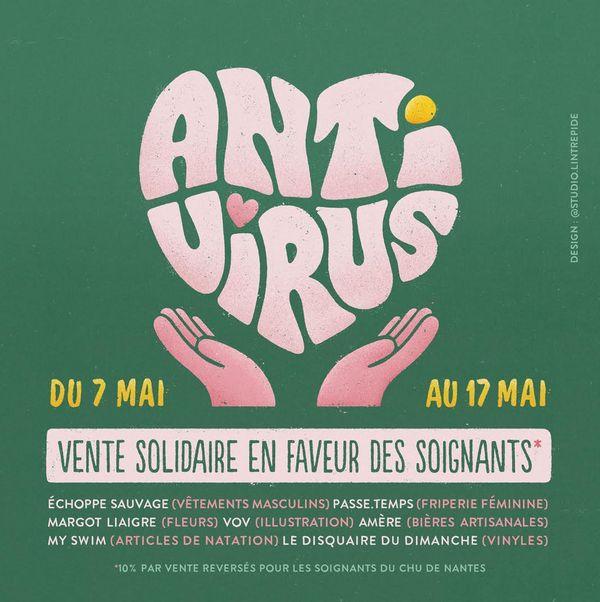 la vente solidaire Antivirus rassemble 7 créateurs et entrepreneurs nantais à l'initiative du Disquaire du Dimanche