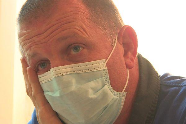 Samuel Besson, du syndicat SUD, est sapeur-pompier depuis plus de 27 ans dans le Gard