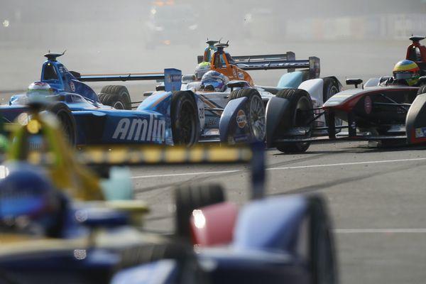 Une course de Formule E, à Mexico, en avril 2016.