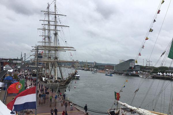 L'Armada de Rouen 2019 sous la pluie vendredi 7 juin 2019.