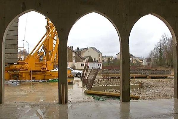 Chantier de la future mosquée de Charleville-Mézières (01/02/2014).