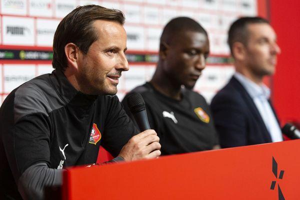 Julien Stéphan, entraîneur du Stade Rennais FC, en conférence de presse