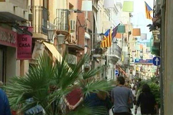 Les rues de Badalone, dans la banlieue de Barcelone.