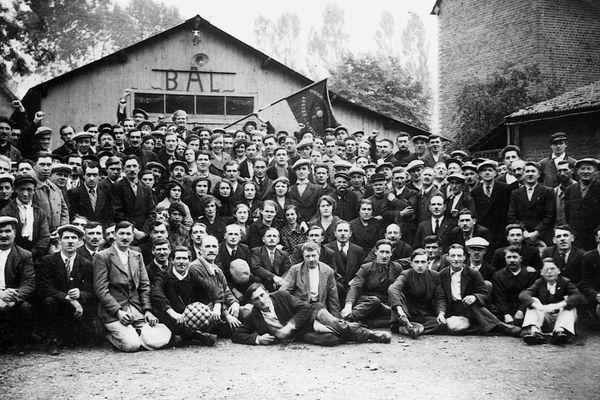 Militants CGT à Arques la Bataille(76)