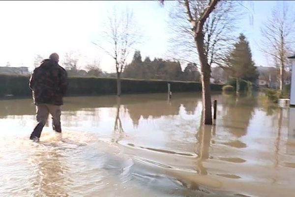 Le camping municipal de Saint-MIhiel (55) est complètement inondé