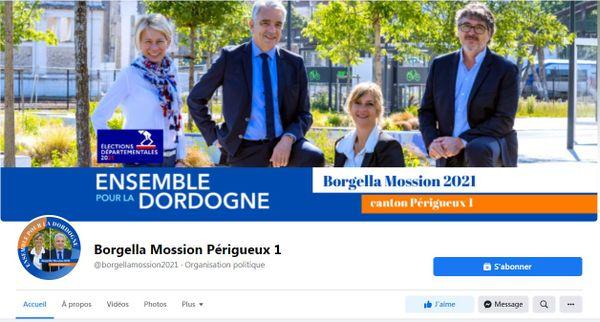 La page Facebook des deux conseillers départementaux, motif de contestation selon le PS