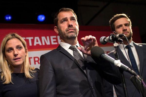 Christophe Castaner à son QG marseillais dimanche soir.