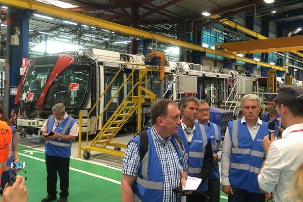 C'est sur le site d'Alstom, situé à Aytré-La Rochelle, que les 23 tramways caennais sont contruits.