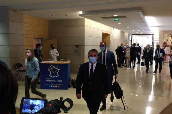 Arrivée de Xavier Bertrand au conseil régional des Hauts-de-France, le 2 juillet 2021