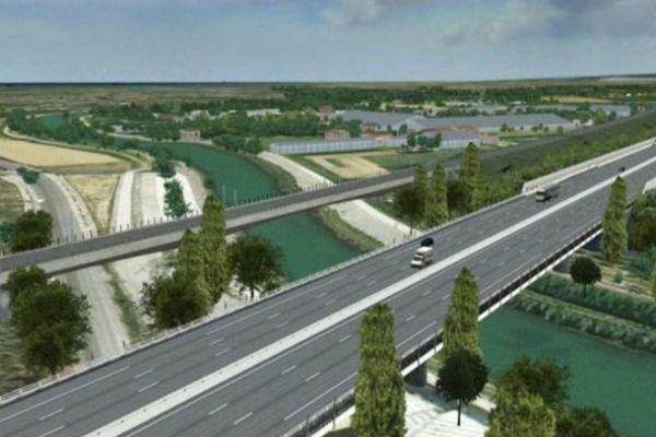Un viaduc routier enjambera le Lez parallèle au viaduc ferroviaire de la LGV.