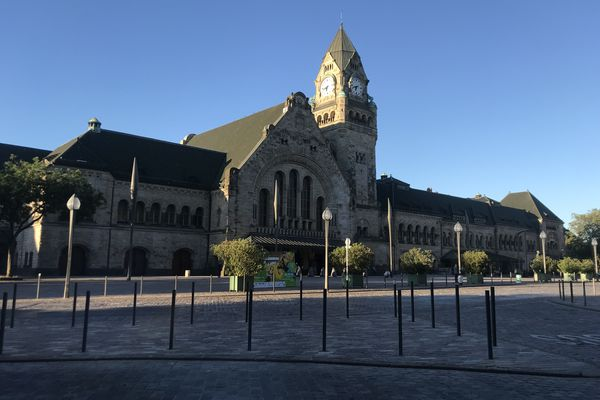 La gare de Metz, en Moselle (57)