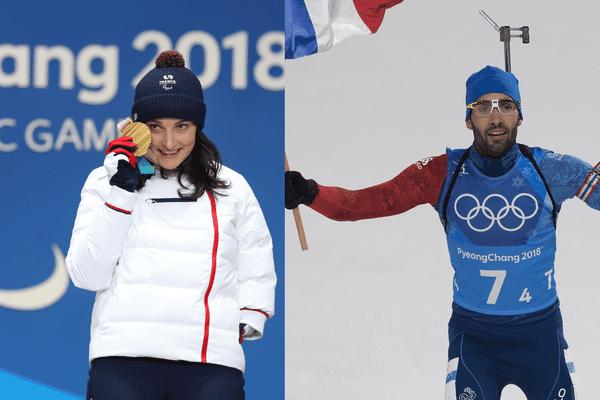 Marie Bochet et Martin Fourcade ont brillé aux jeux de Pyeongchang 2018 en ski et en biathlon