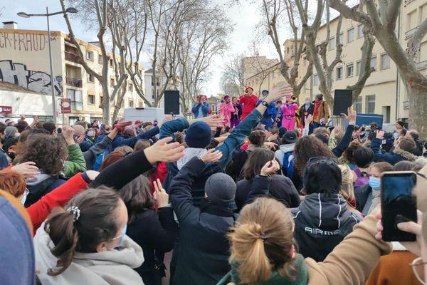 Les fanfares dans les rues de Montpellier - 23.01.21
