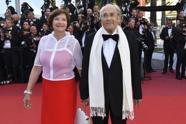 Michel Legrand et Macha Méril au festival de Cannes en 2017