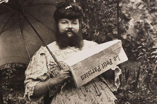 Clémentine Delait tenait le café de la femme à barbe à Thaon-lès-Vosges