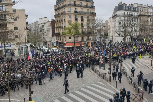 Manifestation des Gilets jaunes, acte 70, malgré la crise sanitaire.