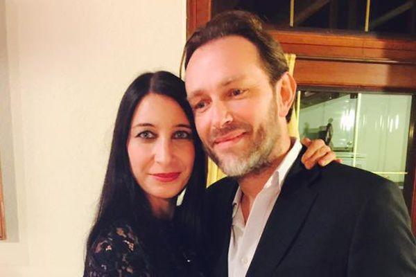 Nathalie Cros Brohan en compagnie du français porté disparu à Londres : Xavier Thomas