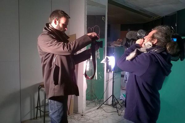 Notre JRI (Journaliste Reporter d'Images) Boris Kratschmar en plein tournage.