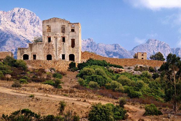 Les ruines du château du prince Pierre à Calenzana.