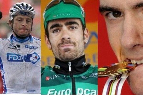 Le Marmandais Pierrick Fédrigo, le Bordelais Jérôme Cousin, et le Basque Romain Sicard.