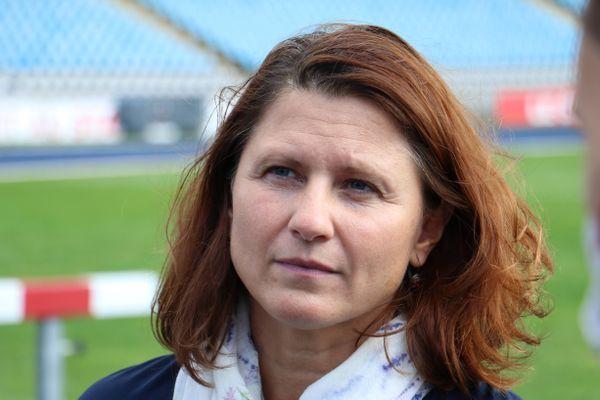 Roxana Maracineanu, ministre des Sports, ce vendredi 24 septembre à Villeneuve d'Ascq.