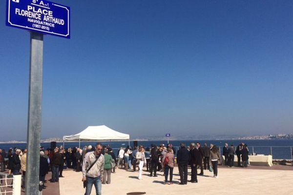 La place Florence Arthaud a été inaugurée ce vendredi matin à la Madrague de Montredon à Marseille.