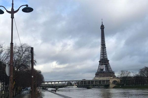 La Seine, à Paris, le 22 janvier 2018.