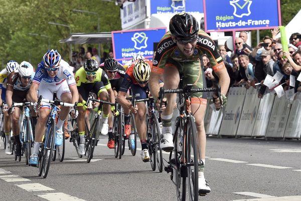 Benjamin Thomas a devancé tout le monde au sprint à Amiens
