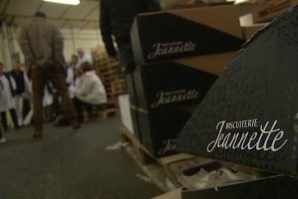 La biscuiterie Jeannette avait pignon sur rue à Caen depuis 1850...