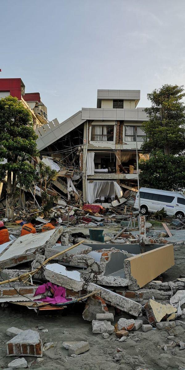 La ville de Palu a été dévastée par le séisme du 28 septembre 2018.