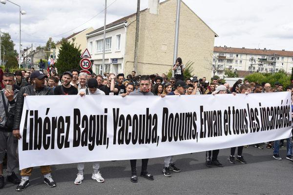 Un manifestation en soutien à Bangui Traoré à Beaumont-sur-Oise