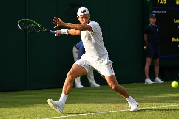 Lucas Pouille ce mardi à Wimbledon