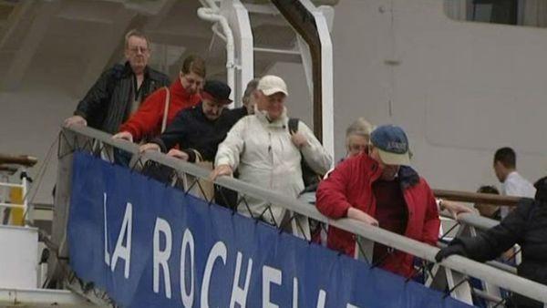 """970 passagers à bord du """" Braemar"""""""