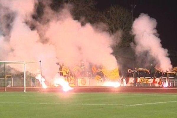Les supporters lensois ont mis l'ambiance à Armentières.