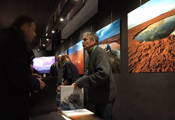 Olivier Grunewald présentait ses photos prises sur le site de Dallol (Éthiopie) au festival de Montier-en-Der.