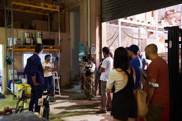 Les participants ont pu visiter la brasserie autonome Ribella.