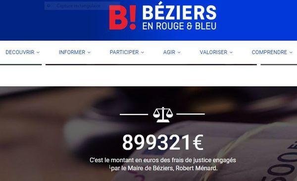Capture d'écran de la page d'accueil du site d'opposition municipale de l'équipe de Pascal Resplandy, conseiller municipal DVD à Béziers et candidat à la mairie pour les municipales 2020. 30/09/2019