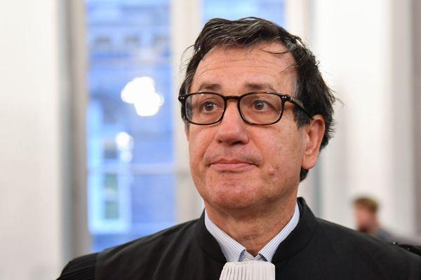 Me Didier Seban, avocat de Jacky Kulik, lors de la première journée du procès de Willy Bardon, le 21 novembre 2019 devant la cour d'assises de la Somme.