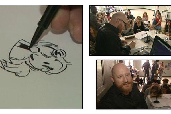 Yoann, le dessinateur de Spirou, a rencontré les élèves de son ancien collège à Alençon