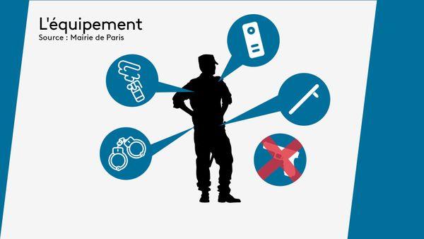 L'équipement de la nouvelle police municipale à Paris
