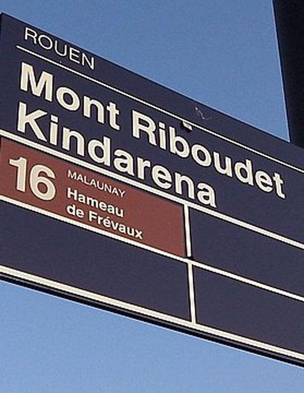 Rouen : la station de bus Mont-Riboudet a été rebaptisée. Le nom de Kindarena y est désormais associé.