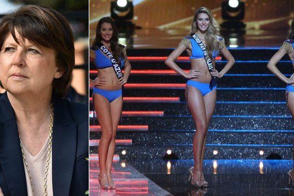 """Martine Aubry a fini par dire """"oui"""" aux Miss."""