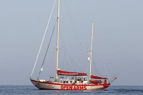 Le bateau Open Arms, de l'ONG espagnole Proactiva.