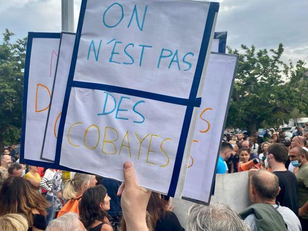 Illustration. Manifestation anti pass sanitaire à Bastia, le samedi 17 juillet.