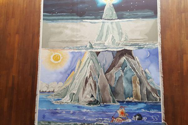 Taniquetil, ou la Montagne blanche, sortie tout droit de l'imaginaire de J.R.R. Tolkien et reproduite en tapisserie
